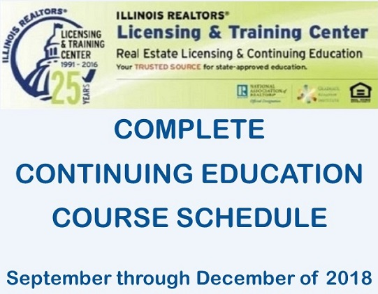 Continuing Ed course schedule graphic